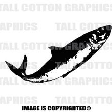 fish black vinyl decal