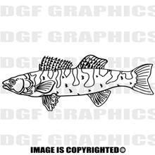 trout black vinyl decal