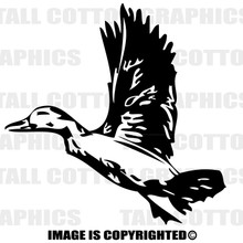 duck black vinyl decal