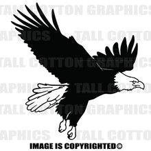 eagle black vinyl decal