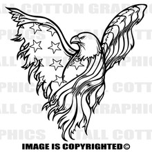 patriotic eagle black vinyl decal