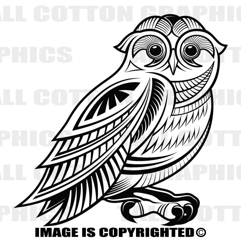 AWESOME ORNAMENTAL ART DECO OWL Custom Personalized Single