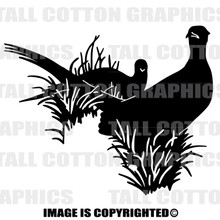 pheasant black vinyl decal