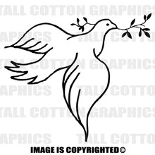 dove black vinyl decal