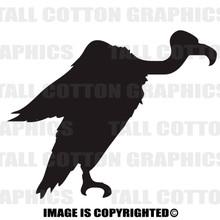 vulture black vinyl decal