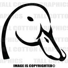 duck head black vinyl decal