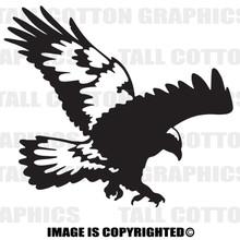hawk black vinyl decal