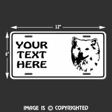american eskimo dog license plate
