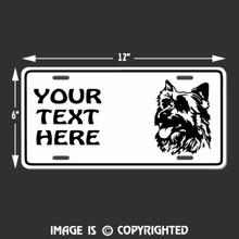 australian terrier license plate