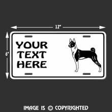 basenji license plate