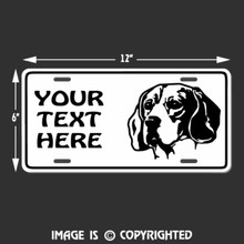 beagle license plate