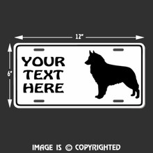 belgian shepherd license plate