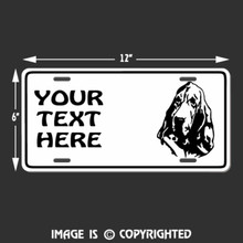 bloodhound license plate