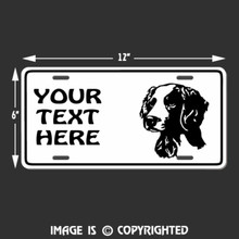 brittany spaniel license plate