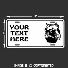 brussels griffon license plate