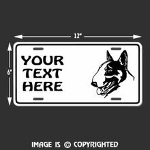 bull terrier license plate