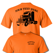 FREIGHTLINER CLASSIC SEMI TRUCK BIG RIG-  PERSONALIZED CUSTOM COTTON T-SHIRT #BR003