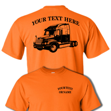 FREIGHTLINER CENTURY CLASS SEMI TRUCK - BIG RIG -PERSONALIZED CUSTOM COTTON T-SHIRT #BR004