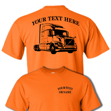 VOLVO VNL 780 SEMI TRUCK - BIG RIG -PERSONALIZED CUSTOM COTTON T-SHIRT #BR005