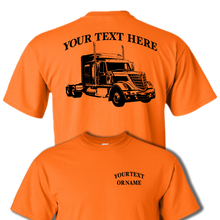 LONE STAR INTERNATIONAL Semi Truck - Big Rig - 18 Wheeler - Personalized Custom Cotton T-shirt - #BR008