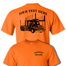 FREIGHTLINER CAR HAULER  Semi Truck - Big Rig - 18 Wheeler - Personalized Custom Cotton T-shirt - #BR011