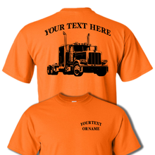 PETERBILT 389 Semi Truck - Big Rig - 18 Wheeler - Personalized Custom Cotton T-shirt - #BR012
