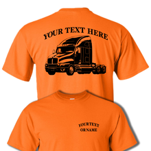 KENWORTH T2000  Semi Truck - Big Rig - 18 Wheeler - Personalized Custom Cotton T-shirt - #BR020