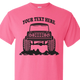 Safety Pink early Bronco t-shirt