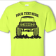 Safety Green Early Bronco T-shirt