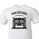 White shirt with black design