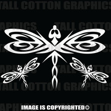 White dragonfly decals