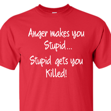 anger stupid red t-shirt