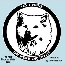 American Eskimo Dog Breed Vinyl Decal