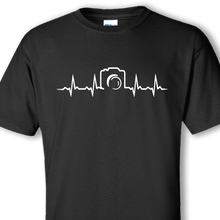 camera heartbeat black shirt