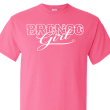 bronco girl safety pink t-shirt
