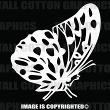 White butterfly decal