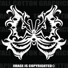 White moth decal