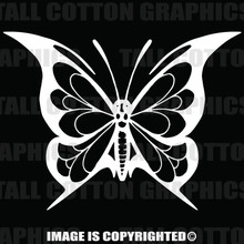 Butterfly decal  in white