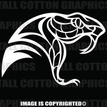 WHite snake head decal