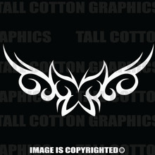 White tribal butterfly decal