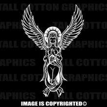 White angel decal