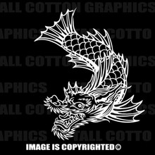 White chinese dragon decal