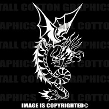 white dragon decal