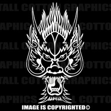 white dragon head decal