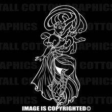 white medusa decal