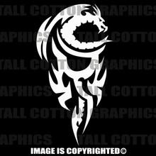 white dragon decal