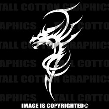 white tribal decal