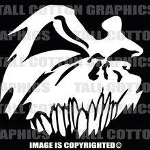 white skull decal #61