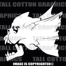 Winged skull white vinyl decal