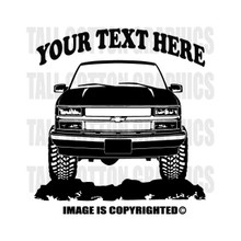 silverado black vinyl decal